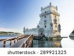 belem tower in sunset light ... | Shutterstock . vector #289921325