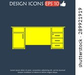 table icon  isolated vector eps ... | Shutterstock .eps vector #289921919