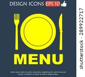 menu with cutlery sign. vector... | Shutterstock .eps vector #289922717