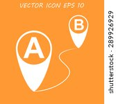 map pointer flat icon  vector... | Shutterstock .eps vector #289926929
