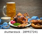 roasted pork knuckle with...   Shutterstock . vector #289927241