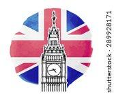 illustration of big ben on the... | Shutterstock .eps vector #289928171