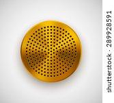 gold abstract circle badge ...