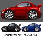 vector modern cartoon car | Shutterstock .eps vector #289930487