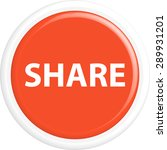 button share . the round shape. ... | Shutterstock .eps vector #289931201