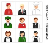 hotel and restaurant staff.... | Shutterstock .eps vector #289931501