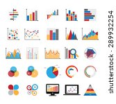 graphic charts diagrams and... | Shutterstock .eps vector #289932254