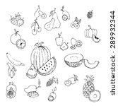 fruit icon vector | Shutterstock .eps vector #289932344