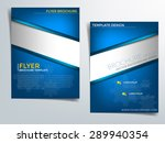blue brochure template vector... | Shutterstock .eps vector #289940354