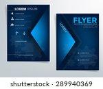 blue brochure template vector... | Shutterstock .eps vector #289940369