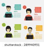 people icons with dialog idea... | Shutterstock .eps vector #289940951