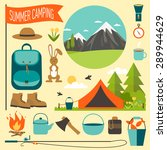 camping equipment icon set.... | Shutterstock .eps vector #289944629