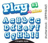 children video game letters....   Shutterstock .eps vector #289946465