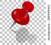 red pushpin | Shutterstock .eps vector #289949441