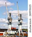 cranes in port | Shutterstock . vector #28995025