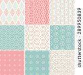 set of nine vector seamless...   Shutterstock .eps vector #289950839