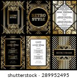 vector set retro pattern for... | Shutterstock .eps vector #289952495