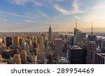 new york city downtown skyline... | Shutterstock . vector #289954469