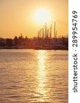 bodrum marina at sunset turkey | Shutterstock . vector #289954769