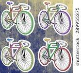 pop art stickers set. hand...   Shutterstock .eps vector #289955375