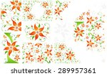 set of amazing backgrounds with ... | Shutterstock . vector #289957361