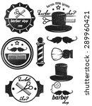 barber shop logos retro vector | Shutterstock .eps vector #289960421