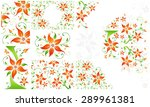 set of amazing backgrounds with ... | Shutterstock .eps vector #289961381