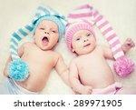newborn twins boy and girl | Shutterstock . vector #289971905