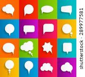 flat speech bubbles with long... | Shutterstock . vector #289977581