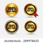 100   best price label set ... | Shutterstock . vector #289978625