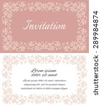 elegant invitation layout with... | Shutterstock .eps vector #289984874