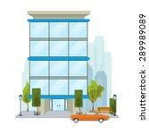 business building facade.... | Shutterstock .eps vector #289989089