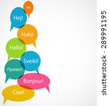 set of speech bubble with hello ... | Shutterstock .eps vector #289991195