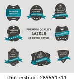 vector premium quality label... | Shutterstock .eps vector #289991711