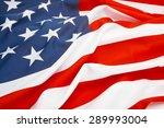close up shot of big us flag   Shutterstock . vector #289993004