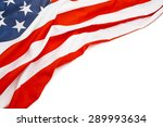 close up shot of us flag with... | Shutterstock . vector #289993634