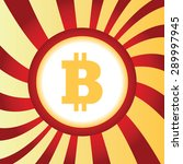 yellow icon with bitcoin symbol ...