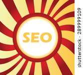 yellow icon with text seo  in...