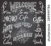 set of hand drawn lettering for ... | Shutterstock .eps vector #289999784