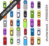 multicolored car collection... | Shutterstock .eps vector #290003054