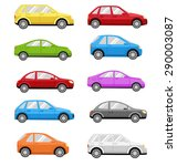 multicolored cars collection... | Shutterstock .eps vector #290003087