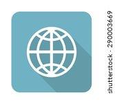 square icon with globe symbol ...