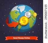 send money online concept.... | Shutterstock .eps vector #290007155