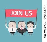 businessman and businesswoman... | Shutterstock .eps vector #290008421