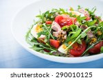 fresh salad with tuna  tomatoes ... | Shutterstock . vector #290010125