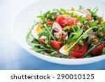 fresh salad with tuna  tomatoes ... | Shutterstock . vector #290010125