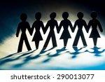 church  multi ethnic group ... | Shutterstock . vector #290013077