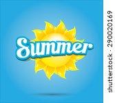 beautiful summer illustrations .... | Shutterstock .eps vector #290020169
