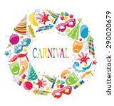 illustration festive round...   Shutterstock . vector #290020679