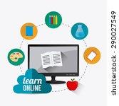 elearning digital design ... | Shutterstock .eps vector #290027549
